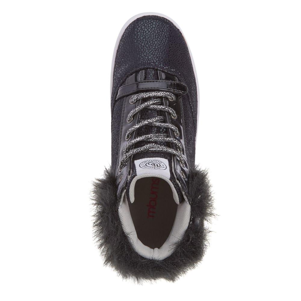 BUMBUMS & BAUBLES Girls' Brooklyn Fur Sneakers - BLACK