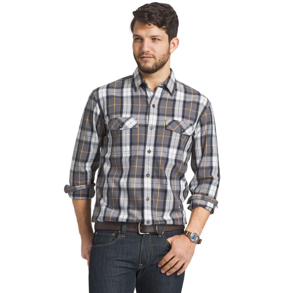 G.H. BASS & CO Men's Mountain Twill Button-Up Shirt - 091-PEWTER