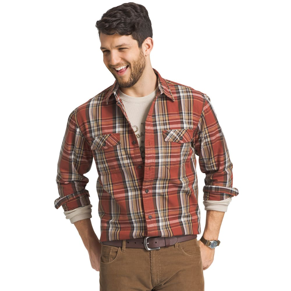 G.H. BASS & CO Men's Mountain Twill Button-Up Shirt - 808-ARABIAN SPICE