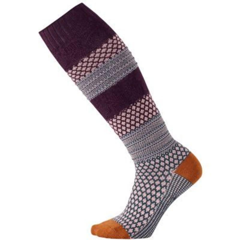 SMARTWOOL Women's Popcorn Cable Knee-High Socks - BORDEAUX HEA 587