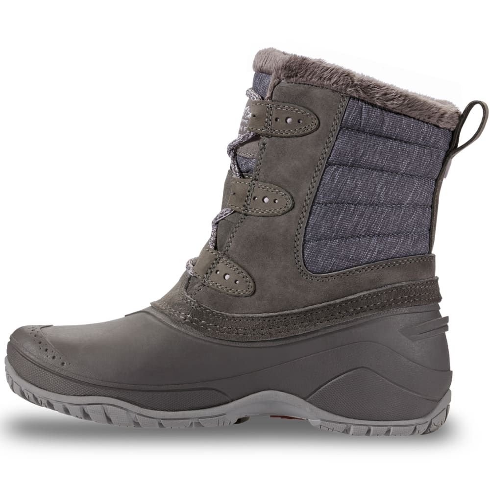 THE NORTH FACE Women's Shellista II Shorty Insulated Waterproof Winter Boots, Dark Gull Grey/Cloud Grey - DARK GULL GREY/CLOUD