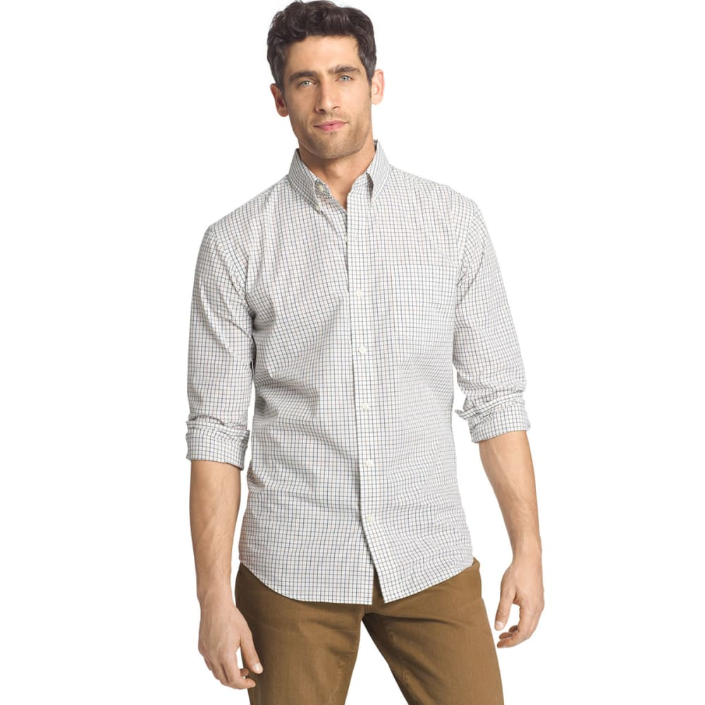 Arrow Men's Hamilton Plaid Poplin Shirt - White, L