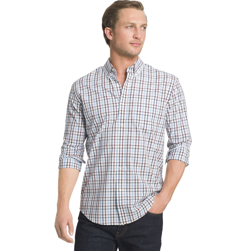 Arrow Men's Hamilton Plaid Poplin Shirt - White, M