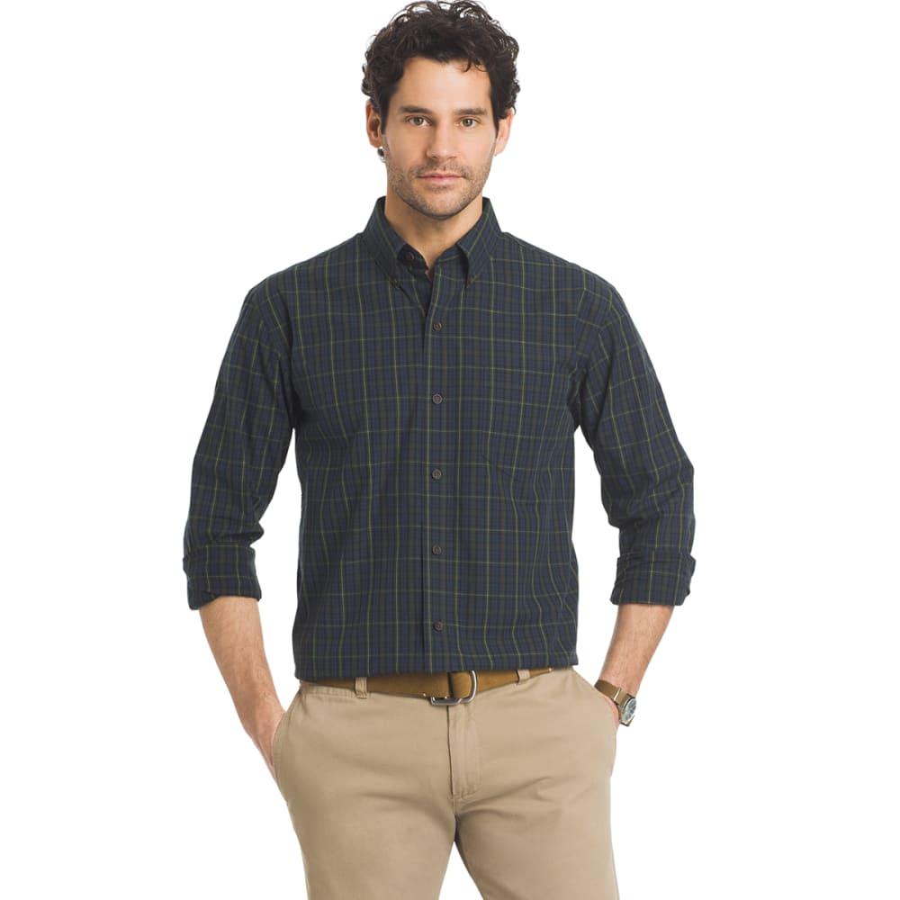 ARROW Men's Blazer Plaid Long-Sleeve Shirt - 488-TOTAL ECLIPSE