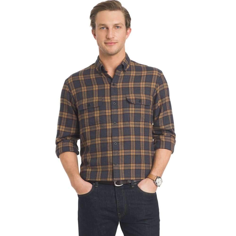 ARROW Men's Hunting Plaid Long-Sleeve Shirt - 070-CHAR HTR
