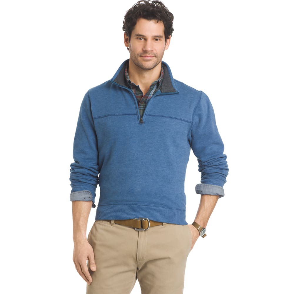 ARROW Men's Sueded ¼-Zip Fleece - 488-PATINA BLUE HTR