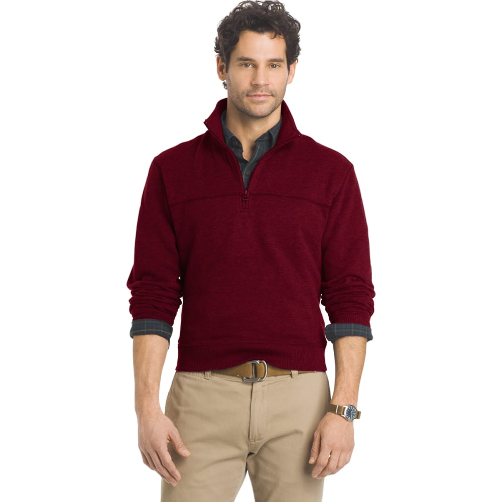 ARROW Men's Sueded ¼-Zip Fleece - 606-CHOC TRUFFLE