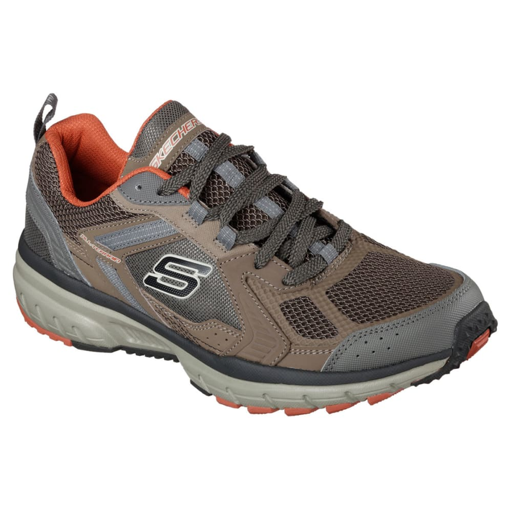 SKECHERS Men's Geo-Trek - Pro Force Sneakers - BROWN/ORANGE