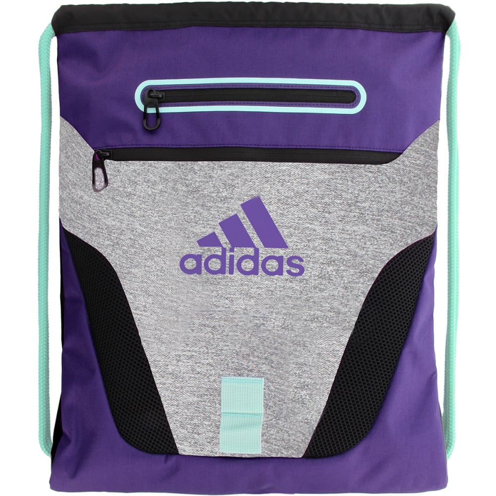 ADIDAS Rumble Sackpack - HTR GREY/PURPLE