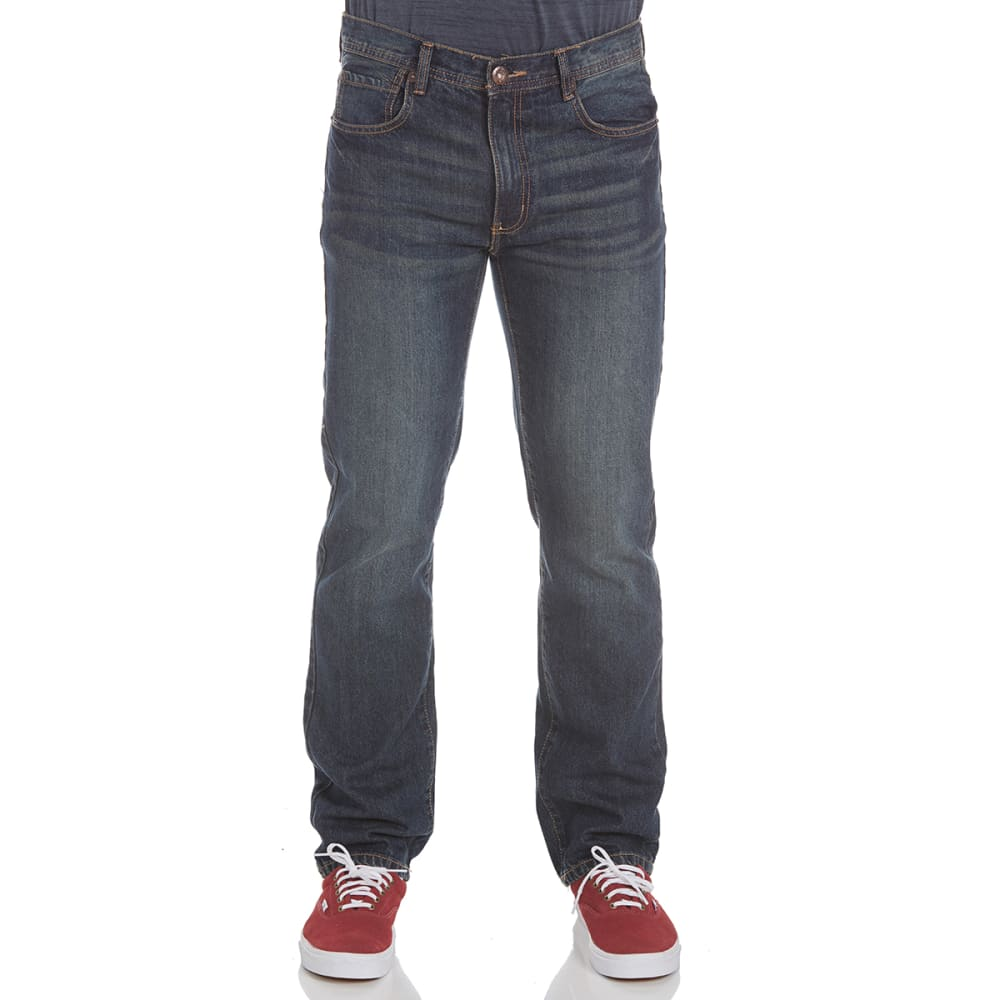 HOLLYWOOD Guys' Straight Leg Jeans - DK INDIGO VINTAGE