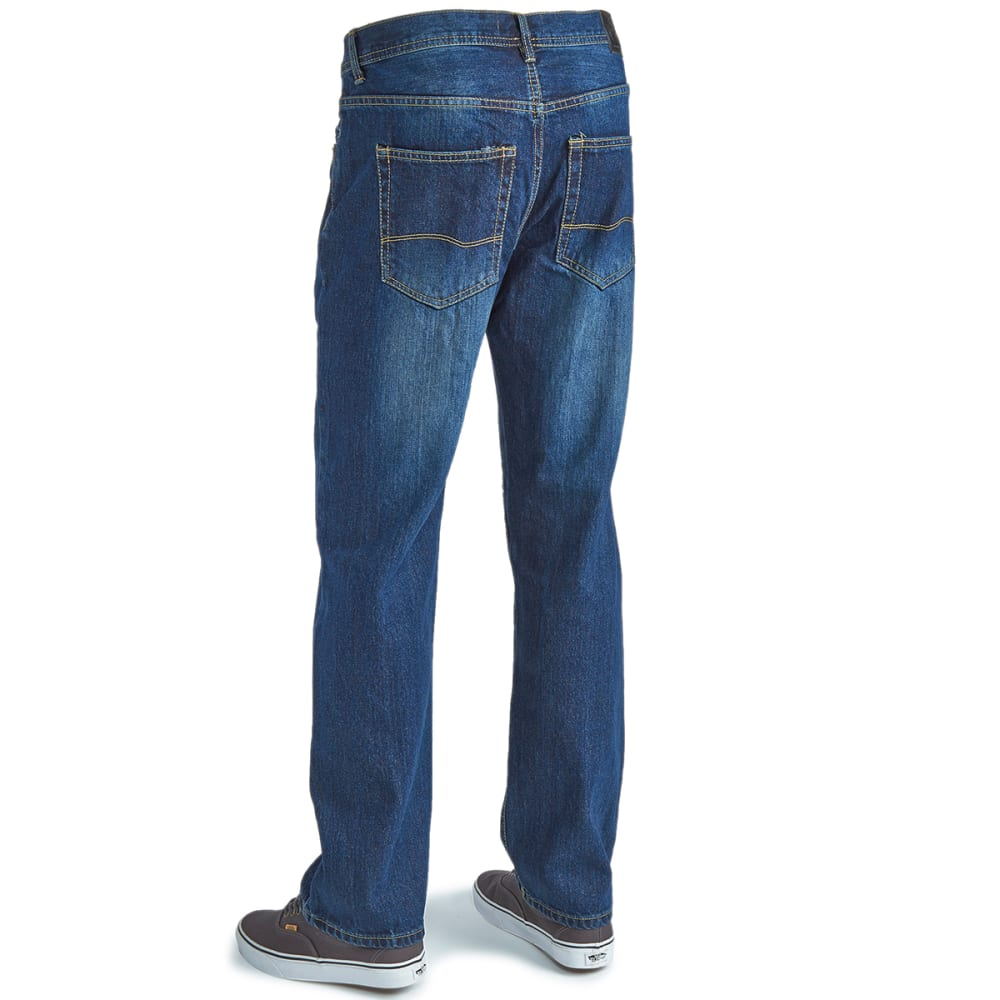 HOLLYWOOD Guys' Straight Leg Jeans - LT BLEACHED PINCHED