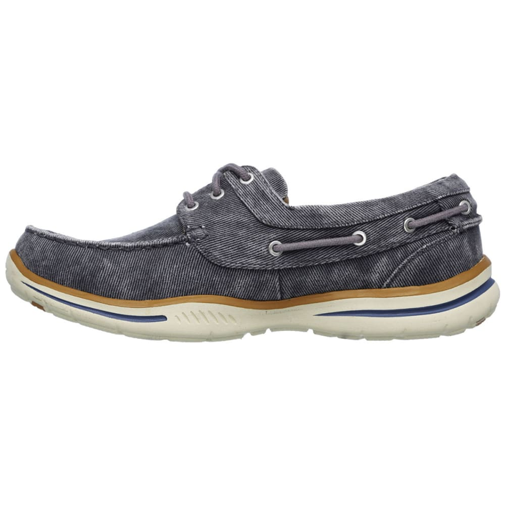 SKECHERS Men's Relaxed Fit: Elected – Horizon Shoes - CHARCOAL
