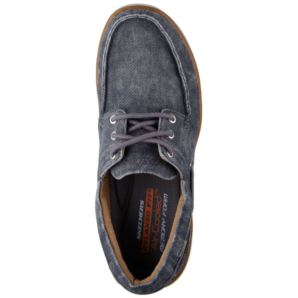 """SKECHERS Men's Relaxed Fit: Elected """""""" Horizon Shoes - CHARCOAL"""