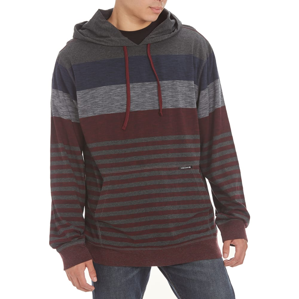 OCEAN CURRENT Guys' Oscar Pullover Hoodie - DEEP BURGUNDY