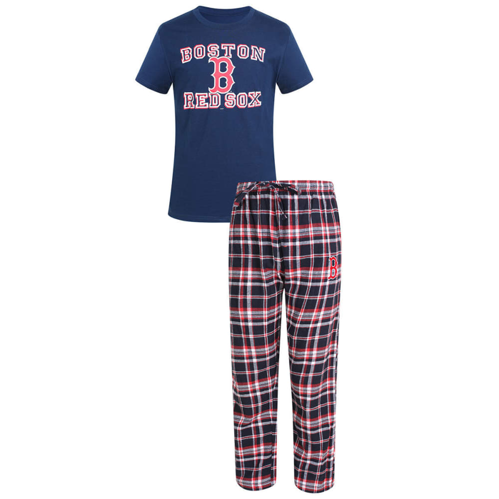 BOSTON RED SOX Men's Tiebreaker Sleep Set - ASSORTED