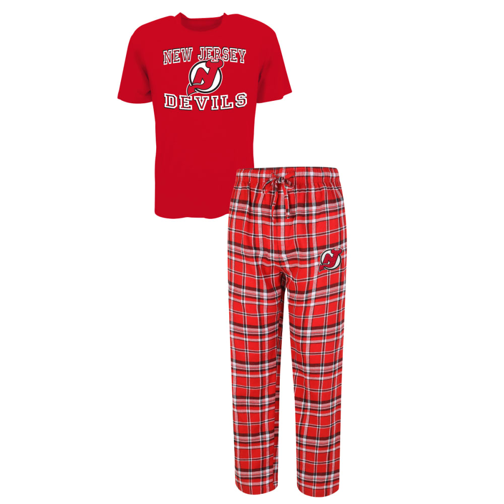 NEW JERSEY DEVILS Men's Tiebreaker Sleep Set - ASSORTED