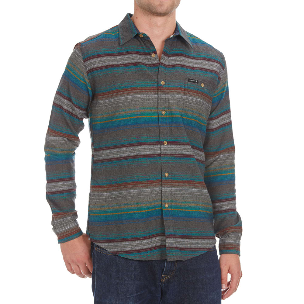 OCEAN CURRENT Guys' Hammock Stripe Flannel Shirt - MULTI