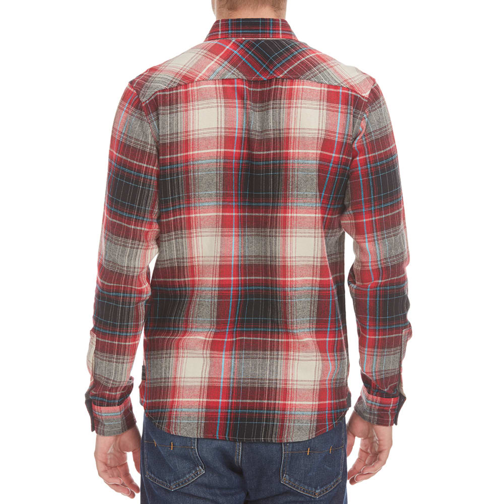 OCEAN CURRENT Guys' Satellite Flannel Shirt - NEW RED
