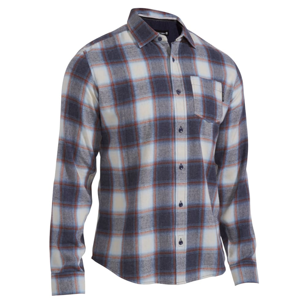 OCEAN CURRENT Guys' Marsh Flannel Shirt - DOLPHIN