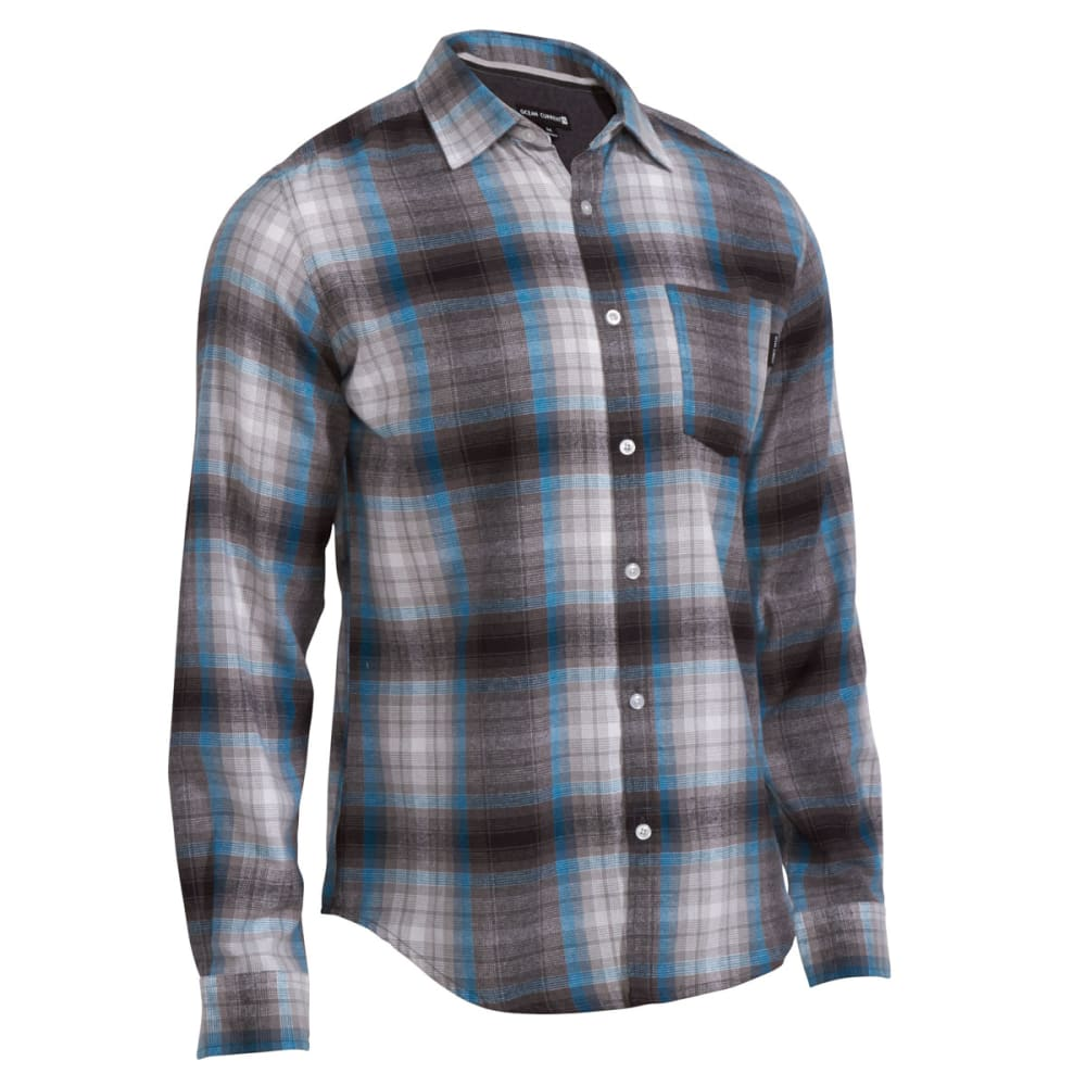 OCEAN CURRENT Guys' Forest Flannel Shirt - GUNMETAL