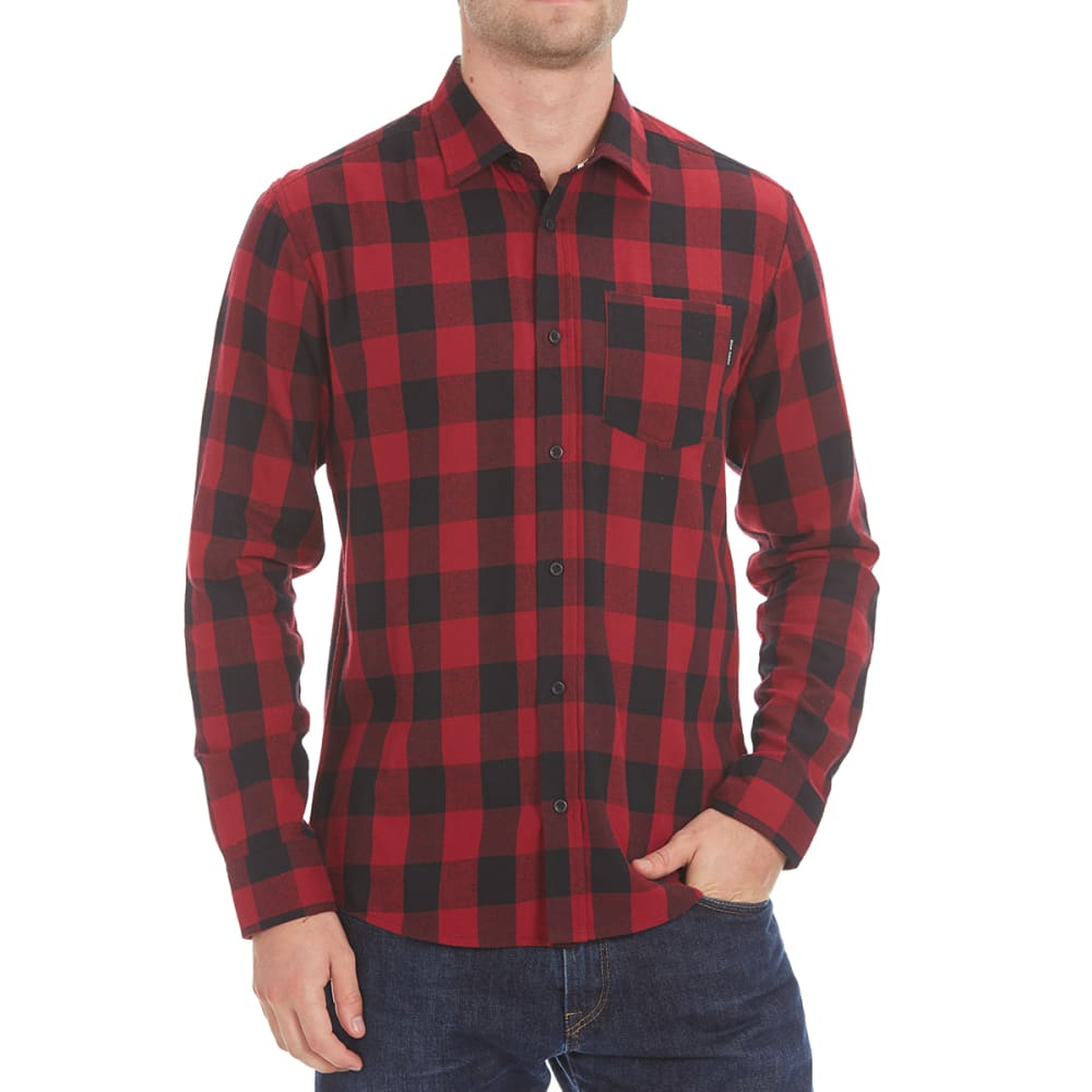 OCEAN CURRENT Guys' Buffalo Flannel Shirt - RED