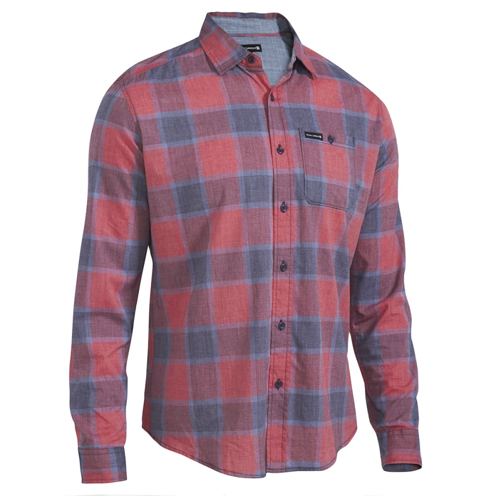 OCEAN CURRENT Guys' Oscar Long-Sleeve Shirt - NEW RED