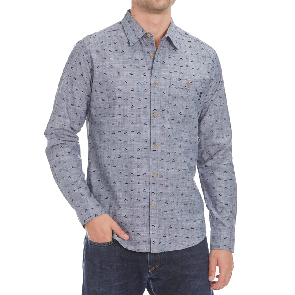OCEAN CURRENT Guys' Shifter Long-Sleeve Shirt - INDIGO