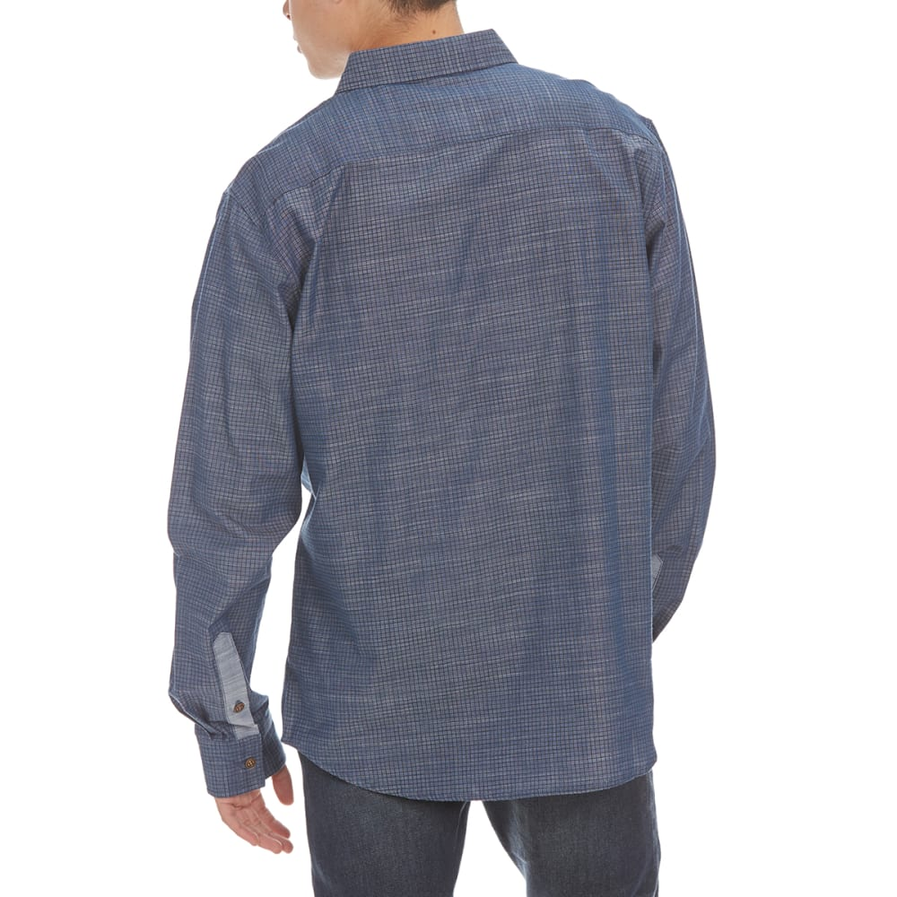 OCEAN CURRENT Guys' Graph Woven Shirt - ROMAN BLUE