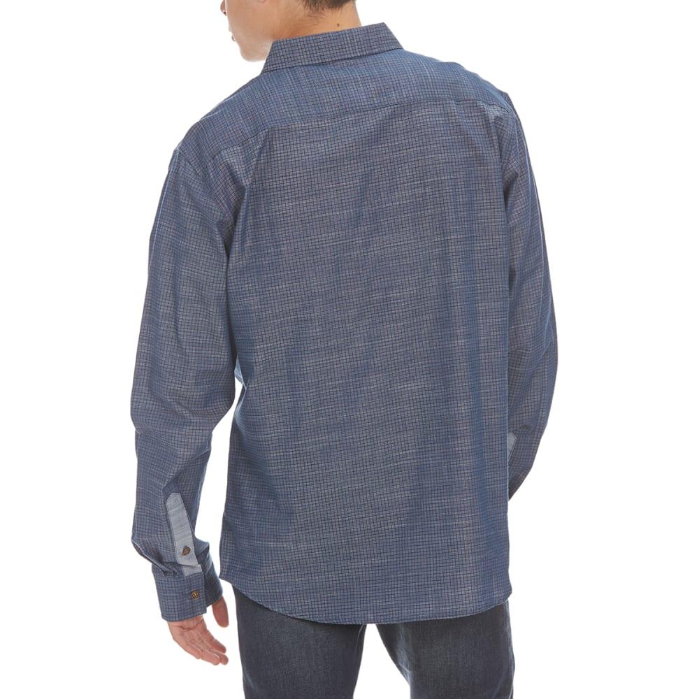 OCEAN CURRENT Guys' Graph Woven Shirt - ROMAN BLUE