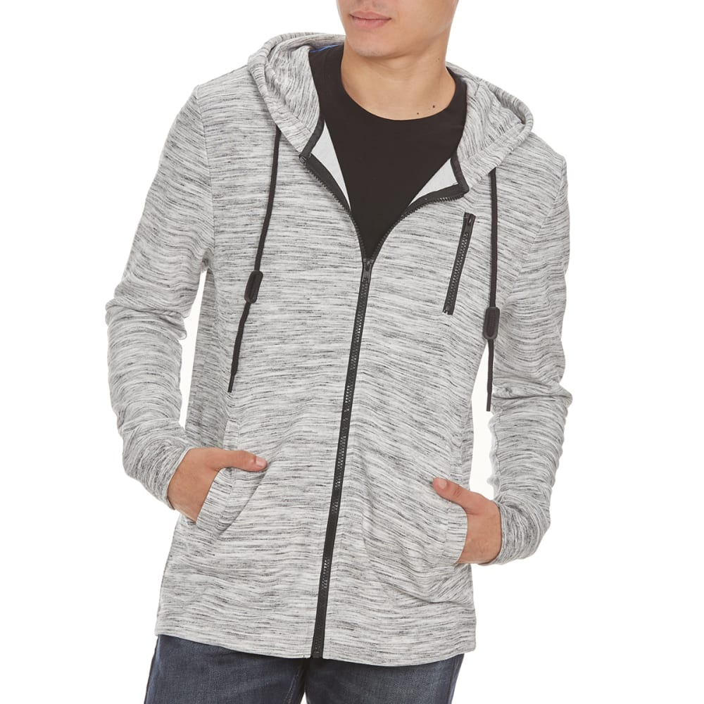 OCEAN CURRENT Guys' Get It Zip Up Hoodie - GREY HEATHER