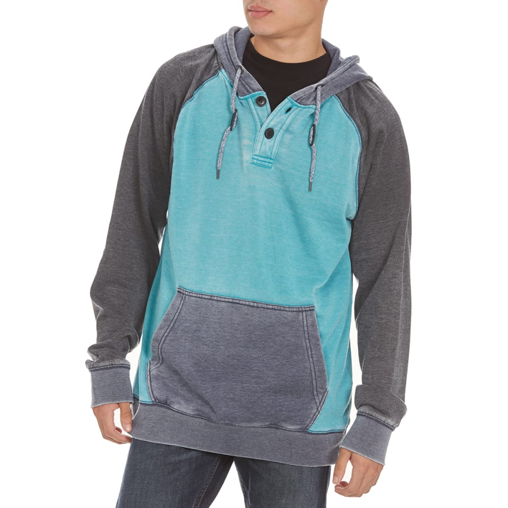 OCEAN CURRENT Guys' Slacker Burnout Raglan Pullover - LAGOON