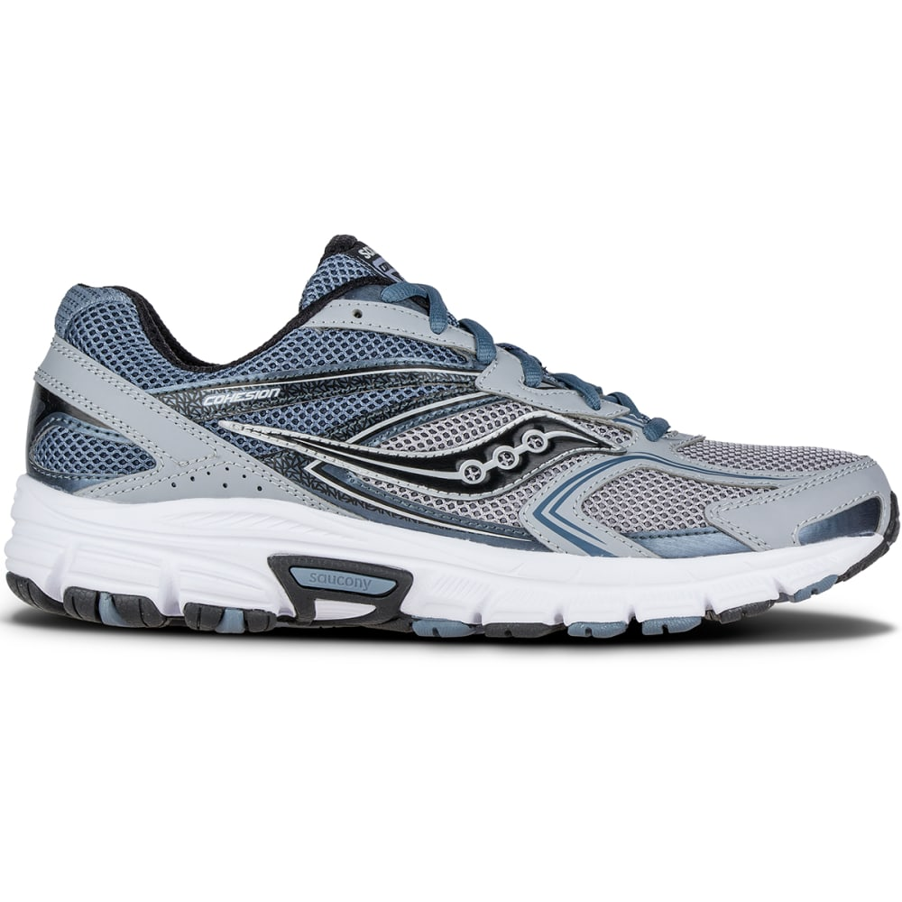 SAUCONY Men's Grid Cohesion 9 Running Shoes - GREY