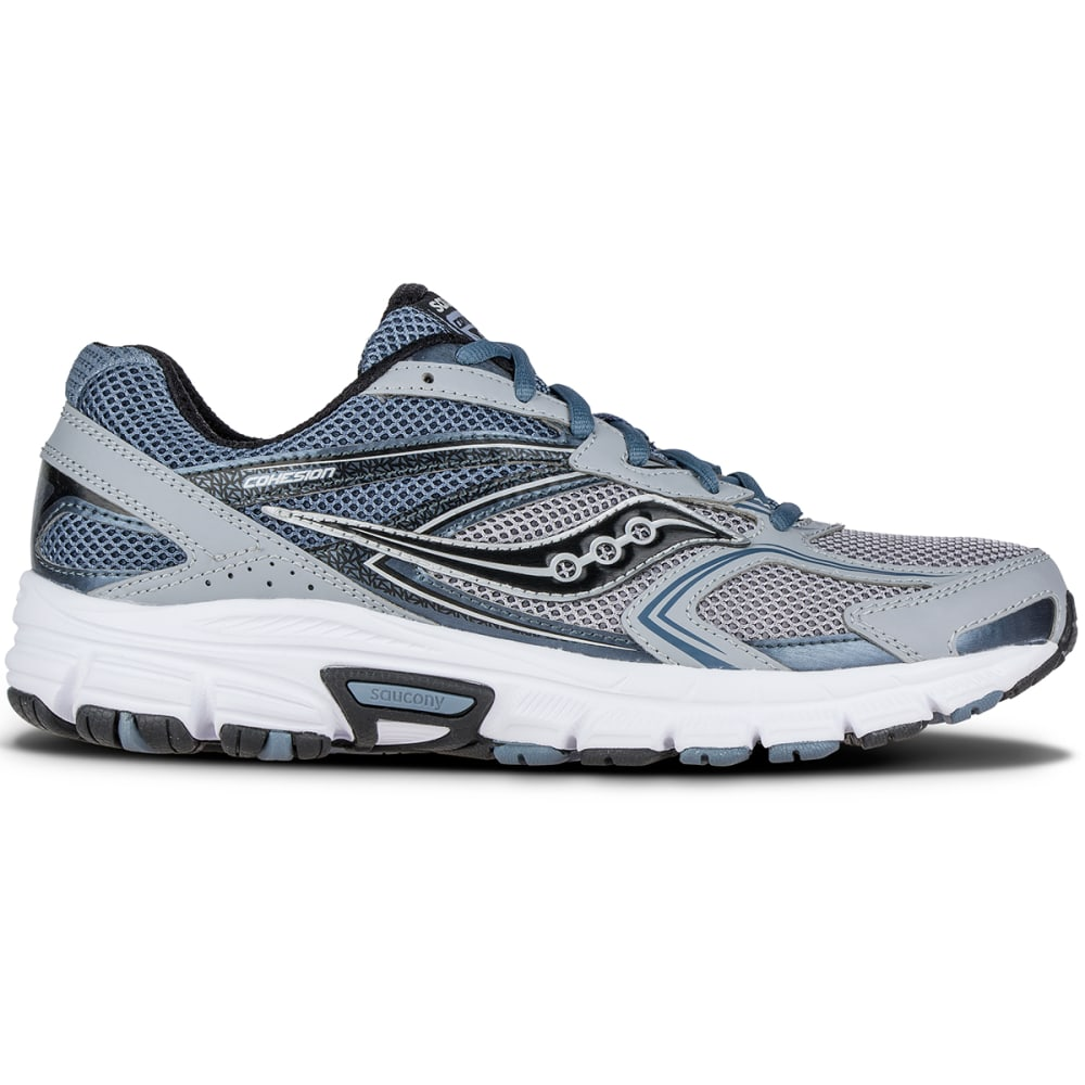 SAUCONY Men's Grid Cohesion 9 Running Shoes, Wide - GREY