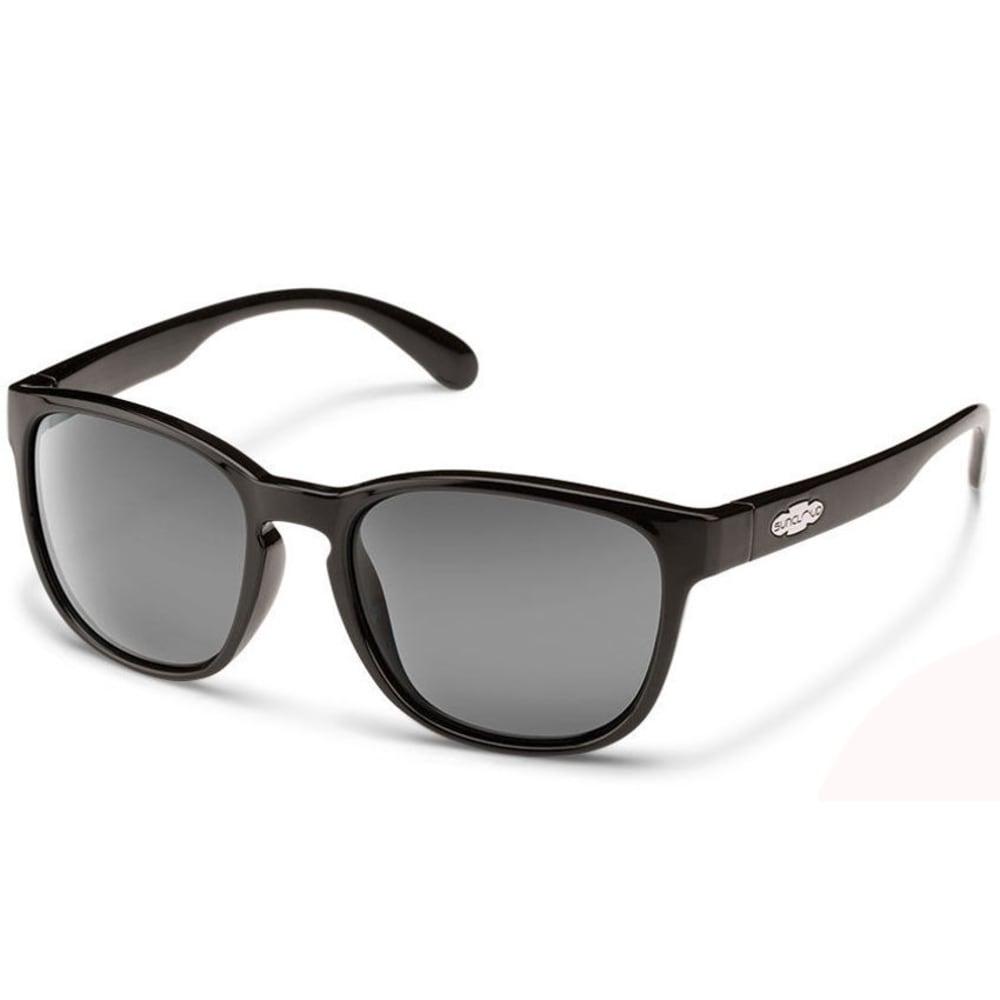 SUNCLOUD Unisex Loveseat Polarized Sunglasses - BLACK
