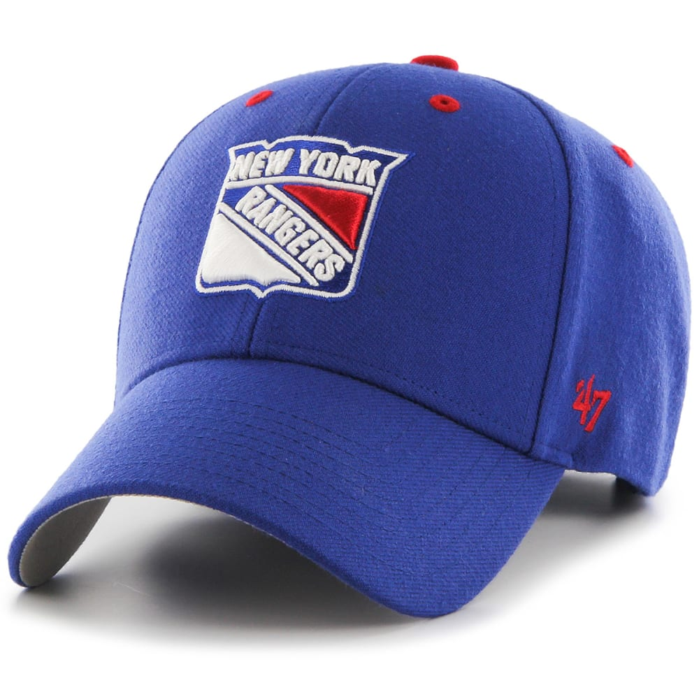 NEW YORK RANGERS Men's Audible '47 MVP Adjustable Hat - ROYAL BLUE