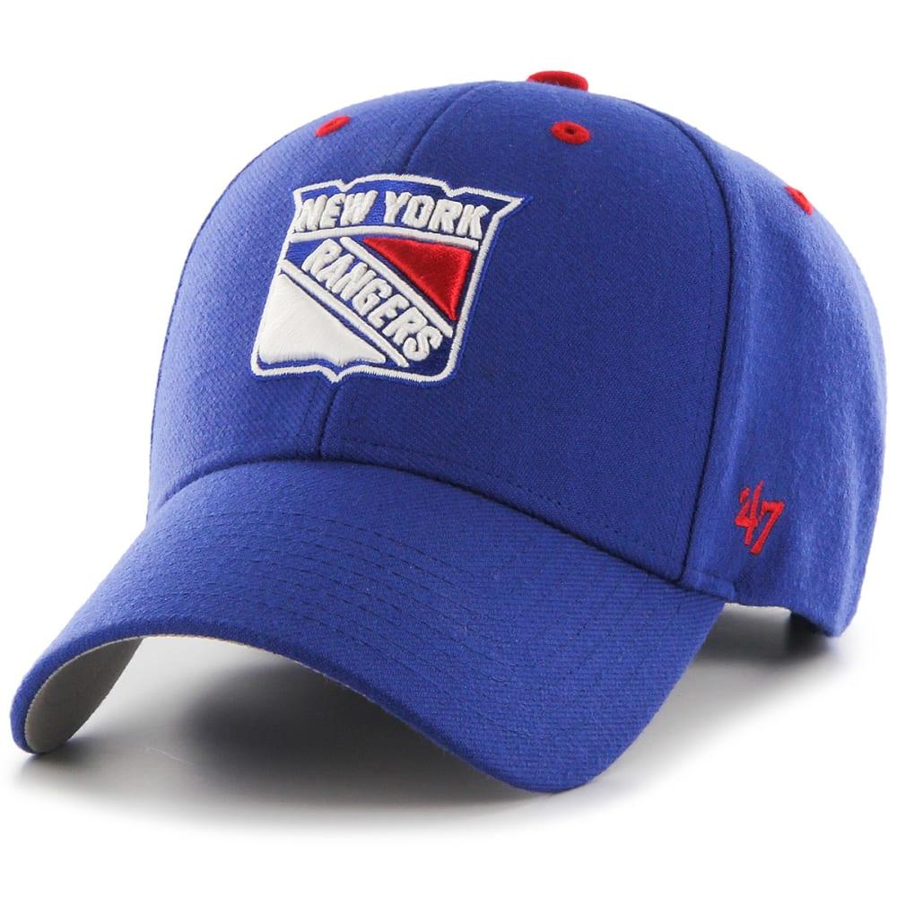 NEW YORK RANGERS Men's Audible '47 MVP Adjustable Hat - ROYAL BLUE