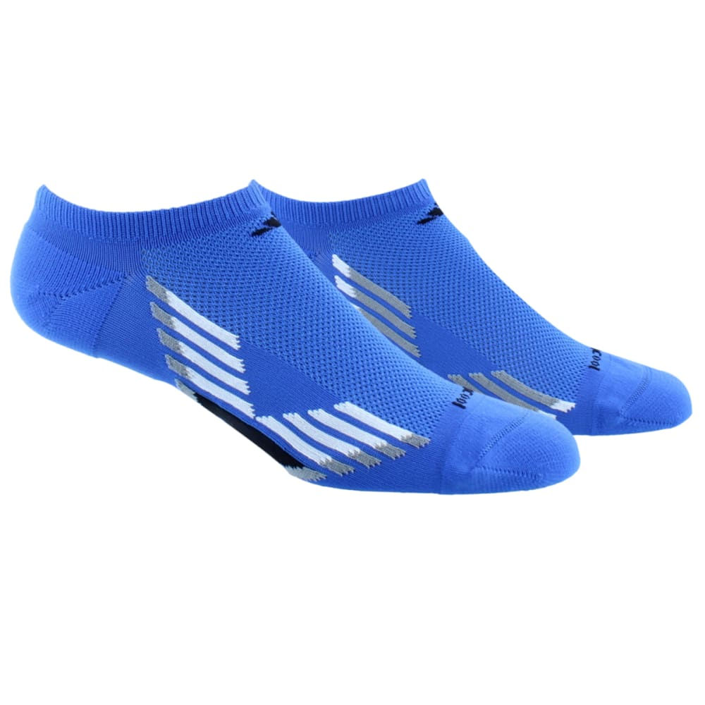 ADIDAS Men's Climacool X No-Show Socks, 2-Pack - BLUR/WHITE /BLACK