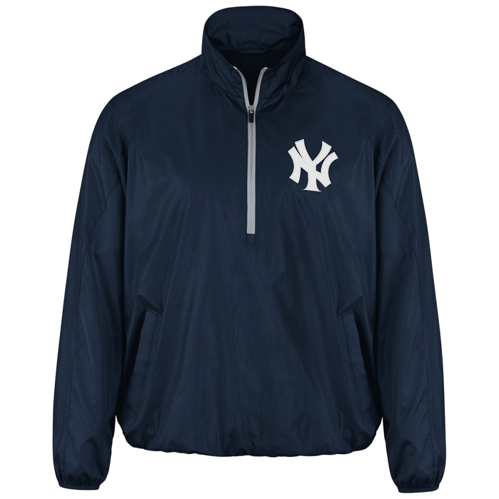 NEW YORK YANKEES Men's Double Play Half-Zip Jacket - NAVY
