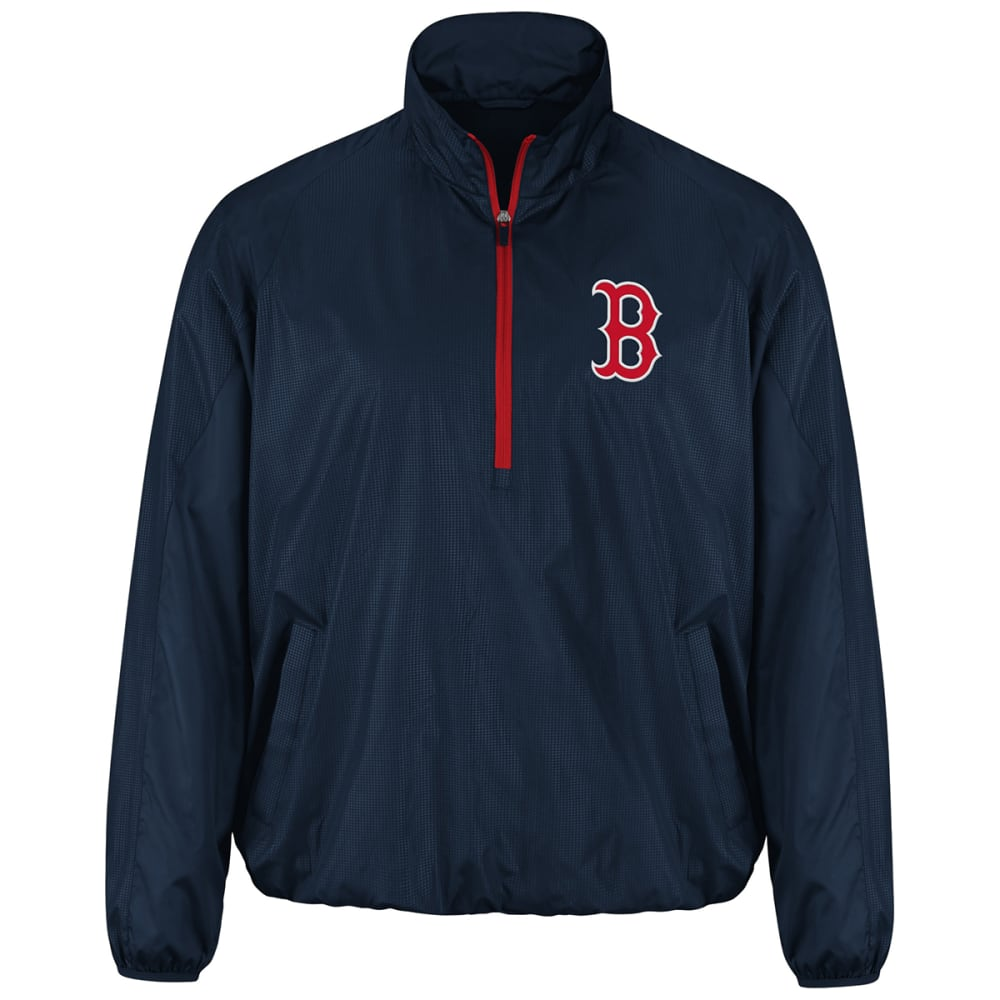BOSTON RED SOX Men's Double Play Half-Zip Jacket - NAVY