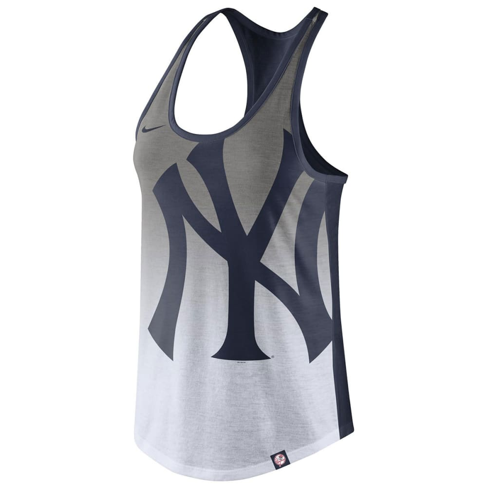 NEW YORK YANKEES Women's Tri-Fade Tank Top - NAVY