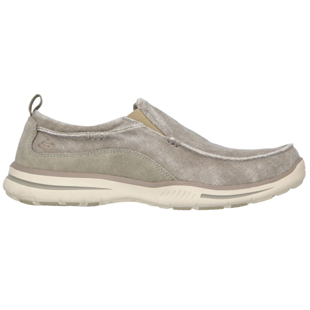 SKECHERS Men's Relaxed Fit: Elected – Drigo Shoes - TAUPE