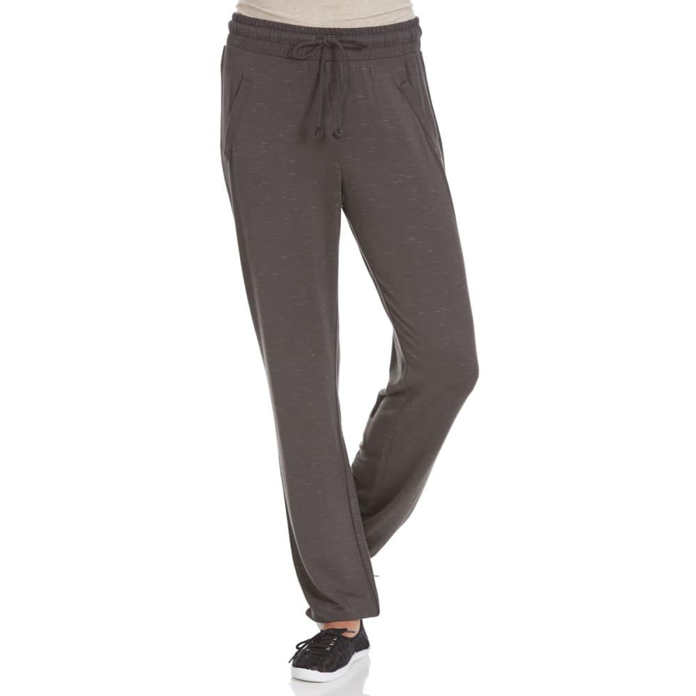 MISS CHIEVOUS Juniors' Slub Welt-Pocket Lightweight Sweatpants - GREY