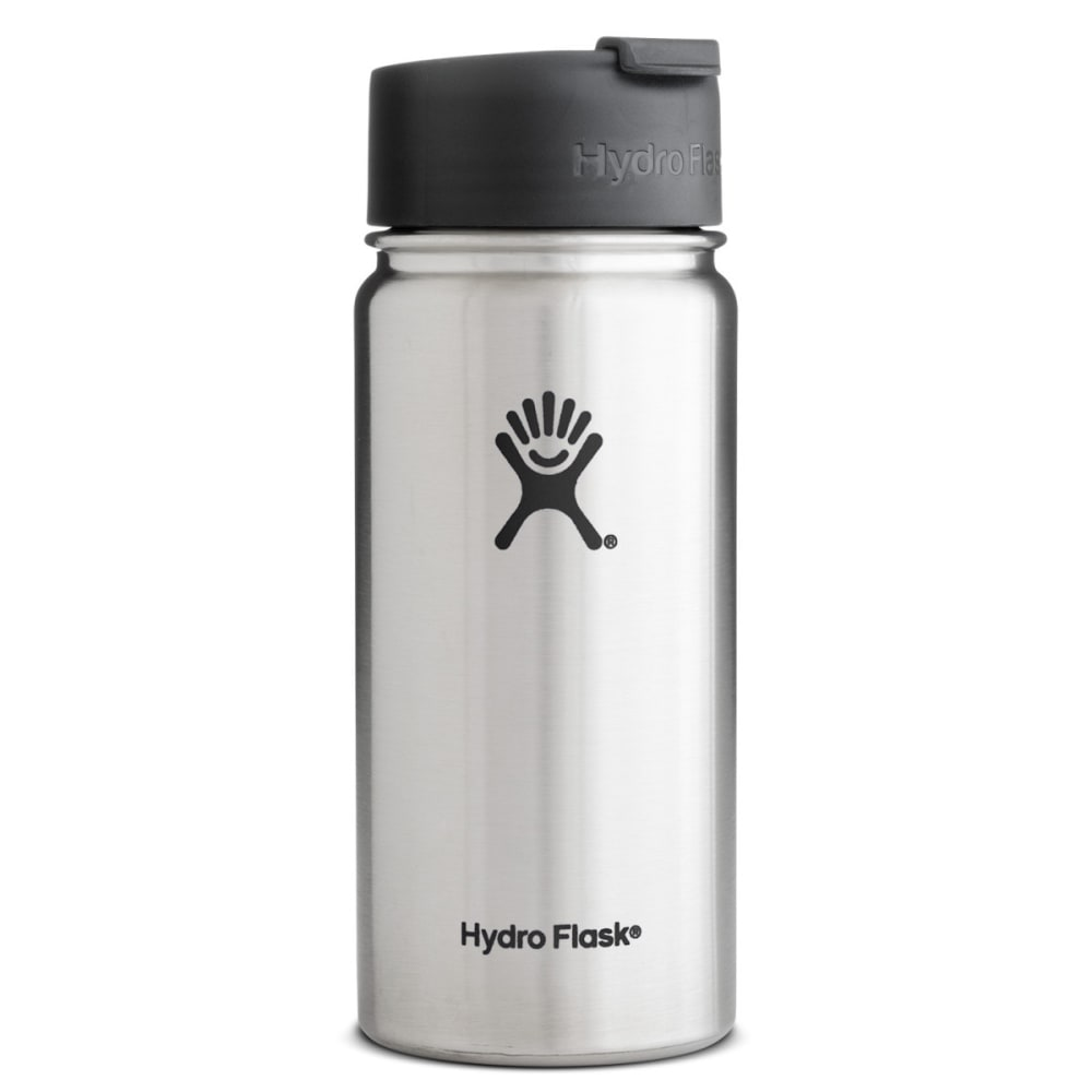 HYDRO FLASK 16 oz. Hydro™ Flip Lid Wide Mouth Stainless Steel Bottle - STAINLESS