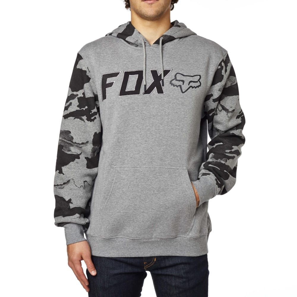 FOX Guys' Diskors Pullover Hoodie - HEATHER GRAPHITE-185