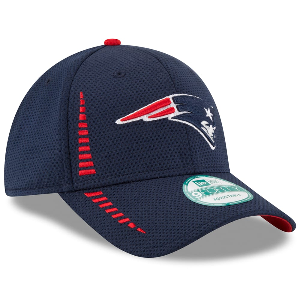 NEW ENGLAND PATRIOTS Men's 9Forty Speed Training Adjustable Cap - NAVY/RED