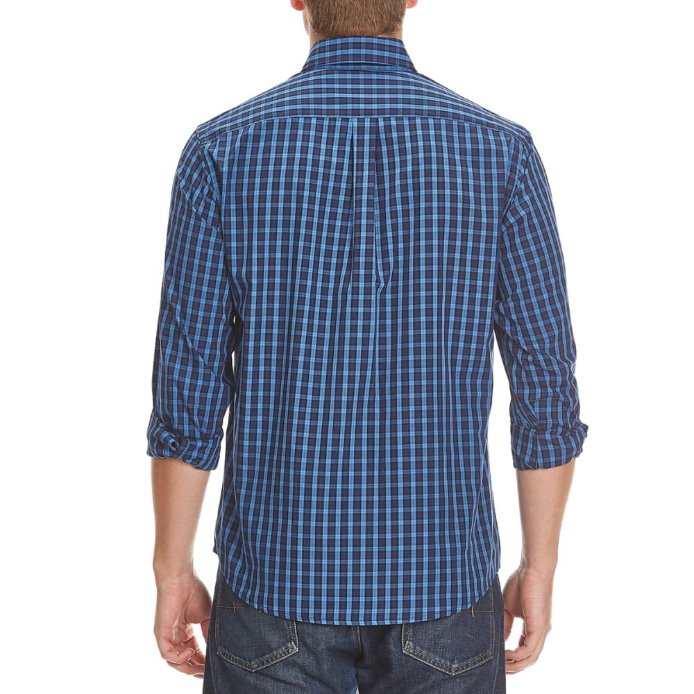 DOCKERS Men's Box Plaid Woven Shirt - 8445-DELFT