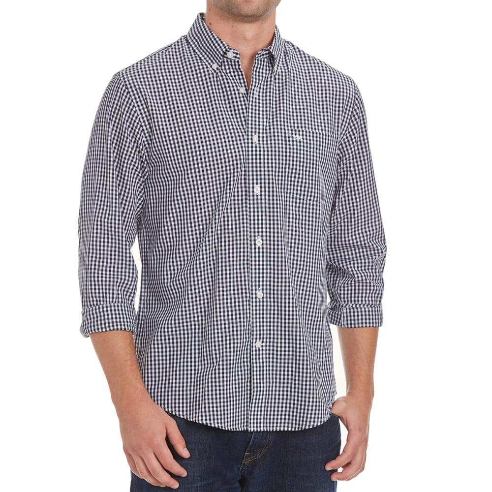 DOCKERS Men's Micro Check Woven Long-Sleeve Shirt - 8465-PEMBROKE