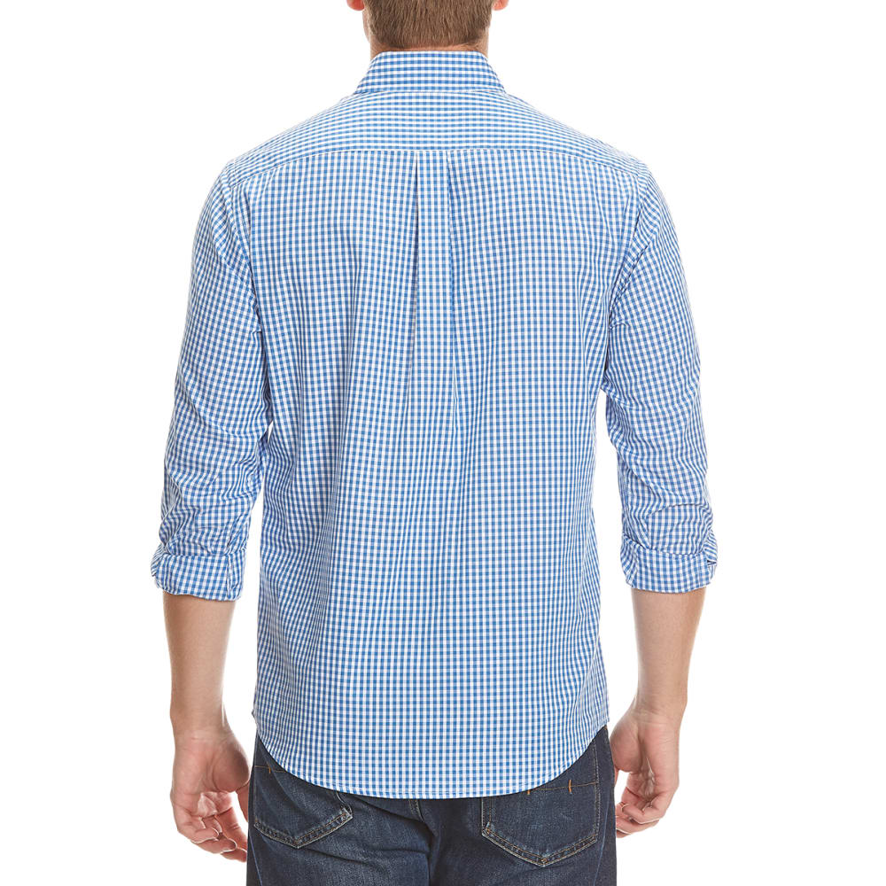DOCKERS Men's Micro Check Woven Long-Sleeve Shirt - 8445-DELFT