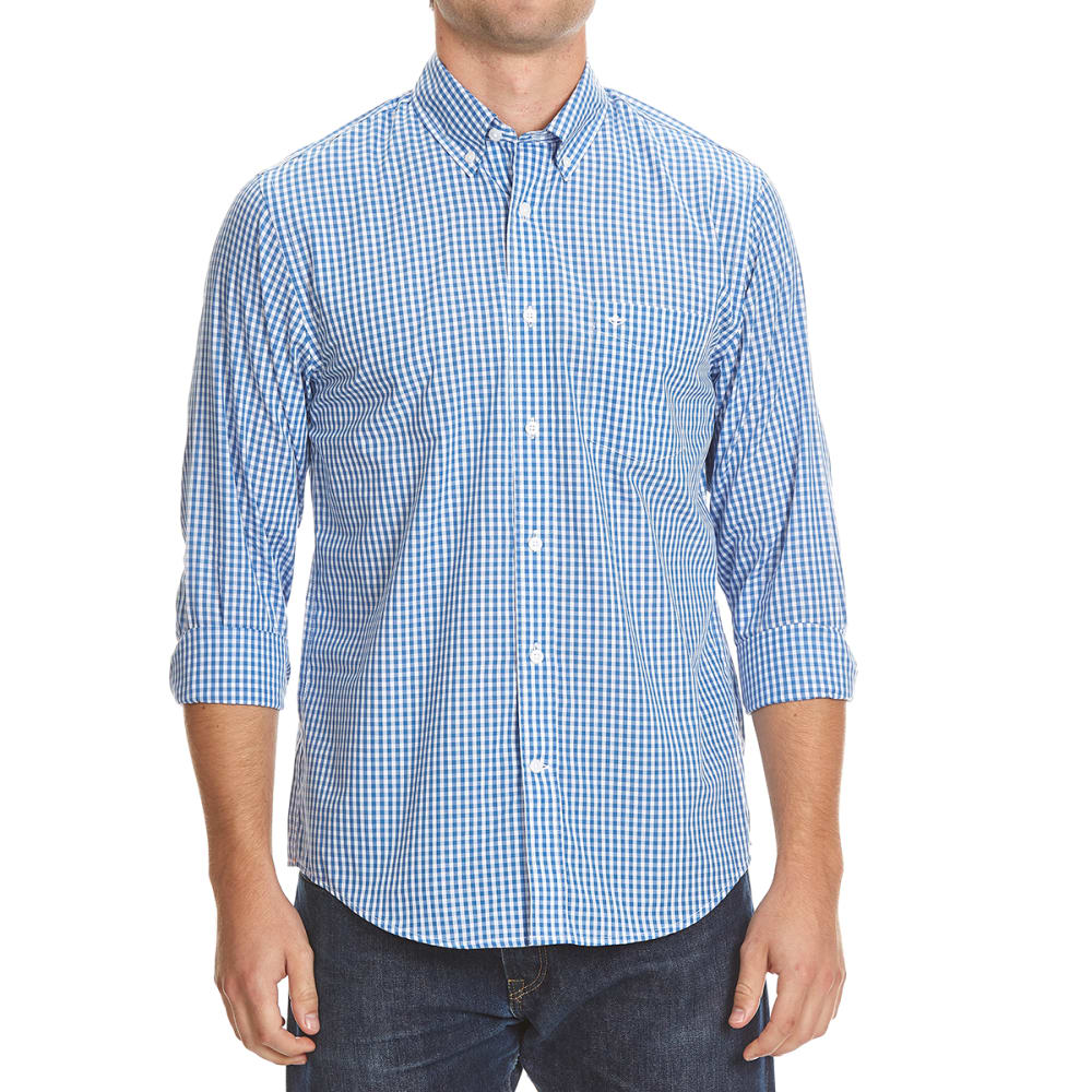 DOCKERS Men's Micro Check Woven Long-Sleeve Shirt - 8445-DELFT