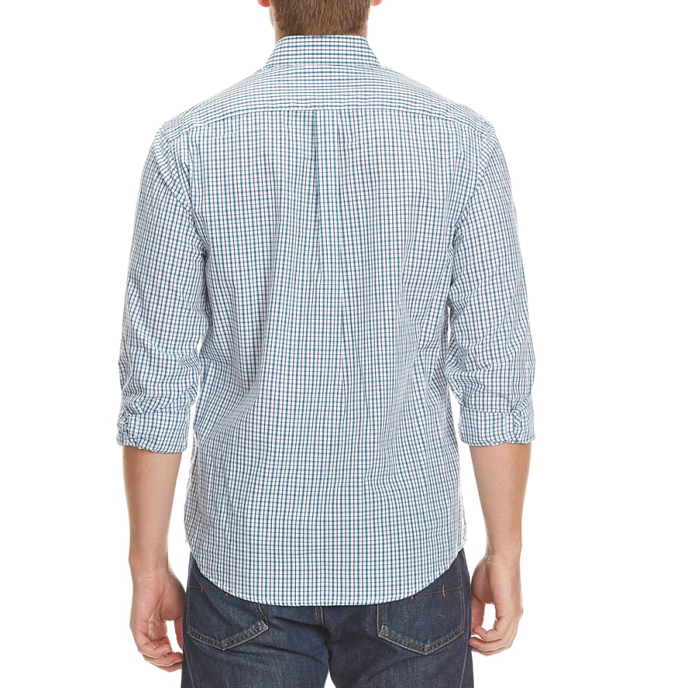 DOCKERS Men's Check Woven Shirt - 8376-DRAGONFLY